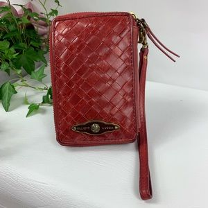 Elliott Lucca Wristlet Leather Zip Around Wallet